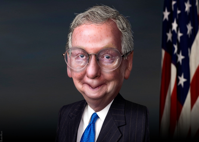 Mitch_McConnell_-_Caricature_(8239448063)